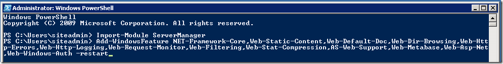"Installing the SCOM 2012 Web Console prerequisites ""the easy way"