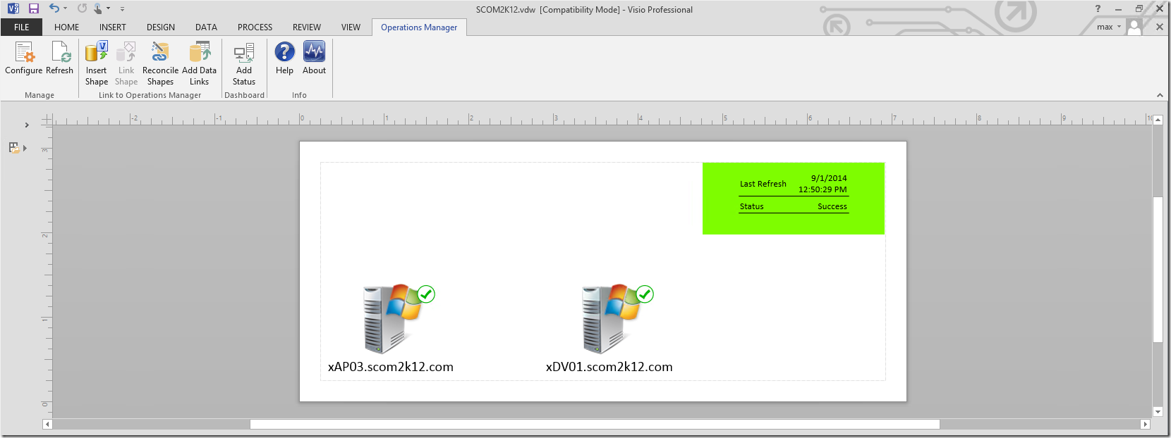 Installing SCOM 2012 Visio Dashboards in SharePoint 2013