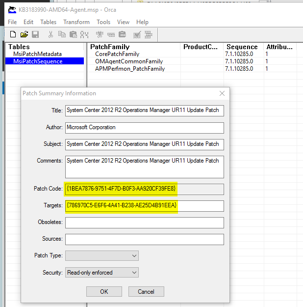 Install and Uninstall SCOM 2012 R2 UR11 agent updates from a