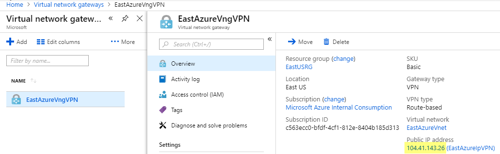 Creating a site-to-site Azure VPN with PFSense | SCOM